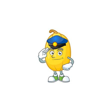 Spaghetti squash Cartoon in character a Police officer costume Stockfoto - 136975515