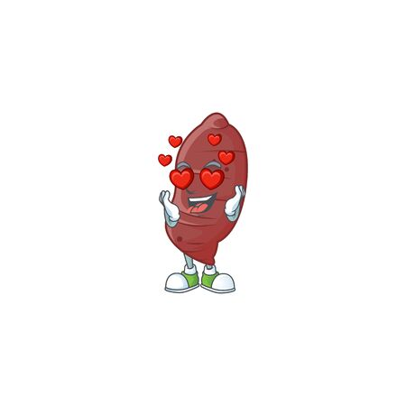 Super cute Falling in love sweet potatoes cartoon character