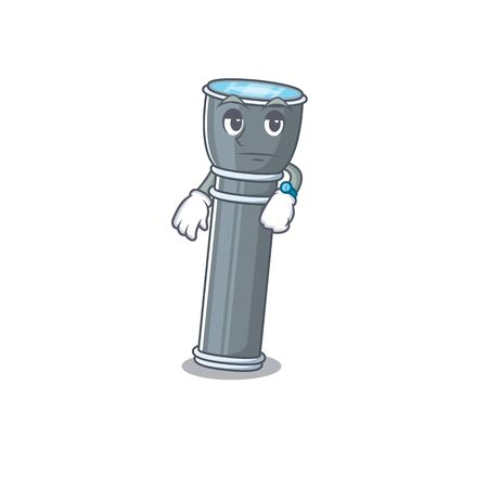 Waiting gesture flashlight Scroll on cartoon character design. Vector illustration