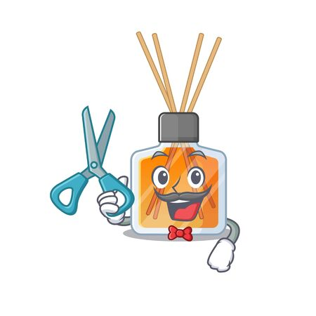 Smiley Funny Barber air freshener sticks cartoon character design style