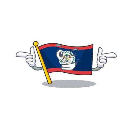 mascot cartoon design of flag belize with Wink eye. Vector illustration