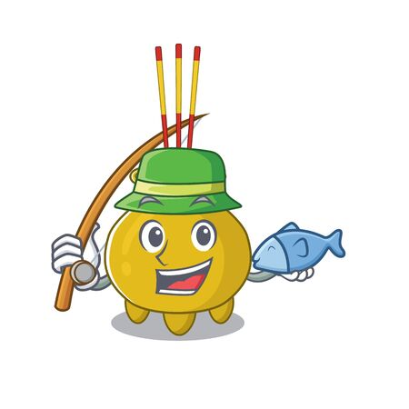 A Picture of happy Fishing chinese incense design Illusztráció
