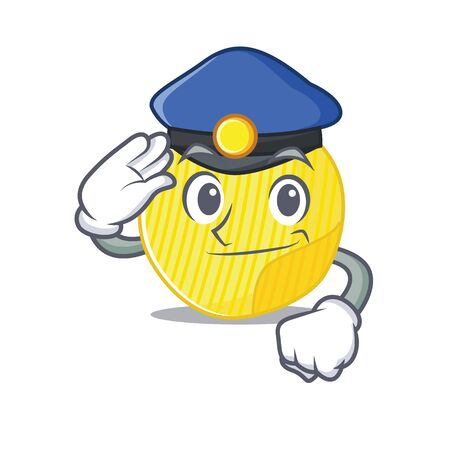 Potato chips Cartoon mascot performed as a Police officer. Vector illustration