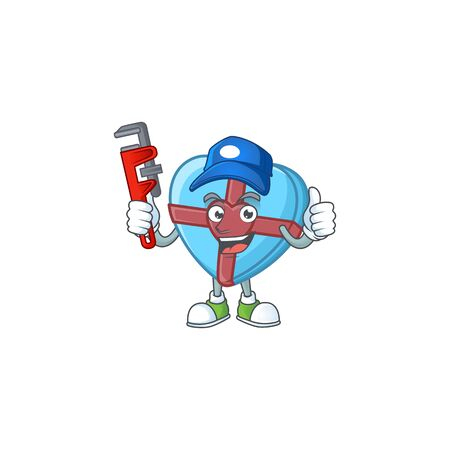 Cool Plumber love gift blue on mascot picture style