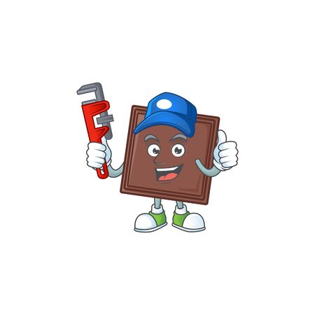 Cool Plumber one bite chocolate bar on mascot picture style