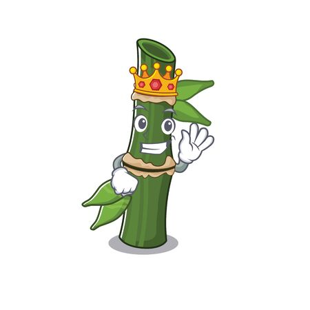 A stunning of bamboo stylized of King on cartoon mascot style. Vector illustration