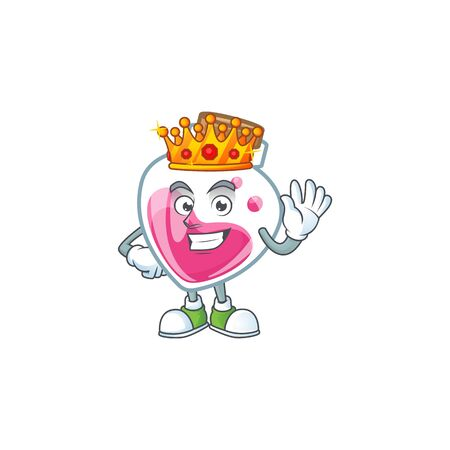 A stunning of pink potion stylized of King on cartoon mascot style