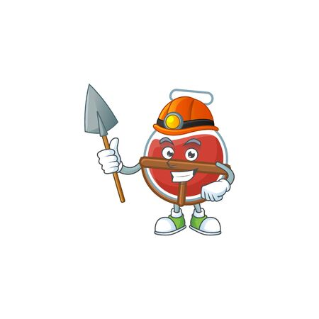 Cool clever Miner red potion cartoon character design 스톡 콘텐츠 - 137354602