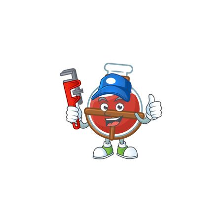 Cool Plumber red potion on mascot picture style