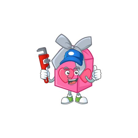 Cool Plumber love gift pink on mascot picture style