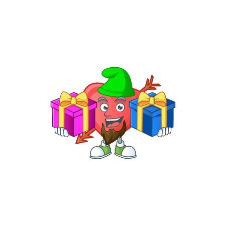 Cute arrow love cartoon mascot style with Tongue out Ilustración de vector