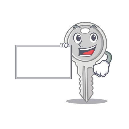 Funny key cartoon character design style with board