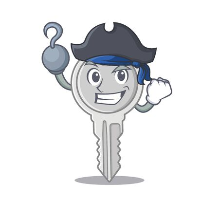 cool and funny key cartoon style wearing hat Illustration