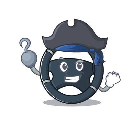 cool and funny car steering cartoon style wearing hat