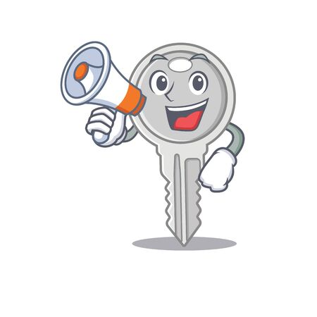 An icon of key having a megaphone Illustration