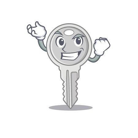 Waving friendly key in cartoon character design Illustration