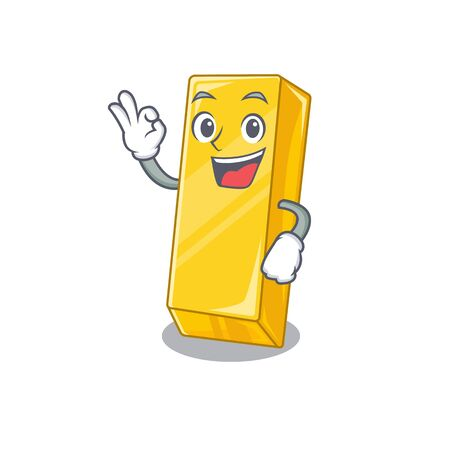 A picture of gold bar making an Okay gesture