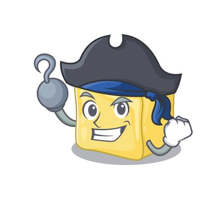 cool and funny creamy butter cartoon style wearing hat