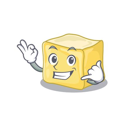 Call me funny creamy butter mascot picture style