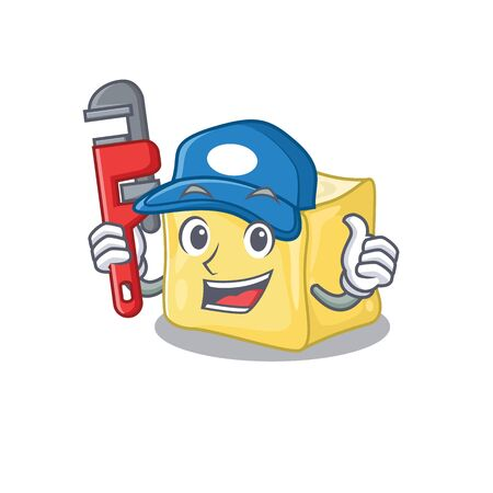 Cool Plumber creamy butter on mascot picture style