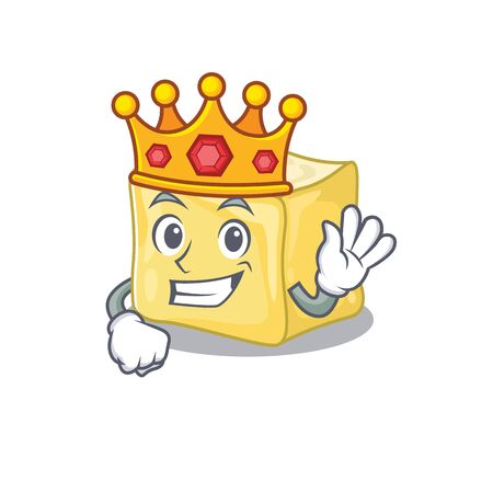 A stunning of creamy butter stylized of King on cartoon mascot style Illustration