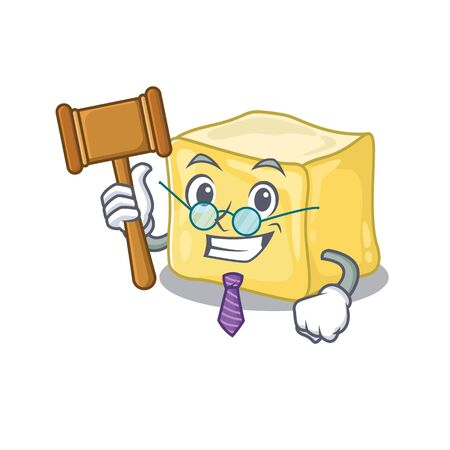 Smart Judge creamy butter in mascot cartoon character style