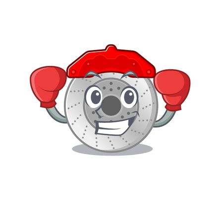 Sporty Boxing car brake mascot character style