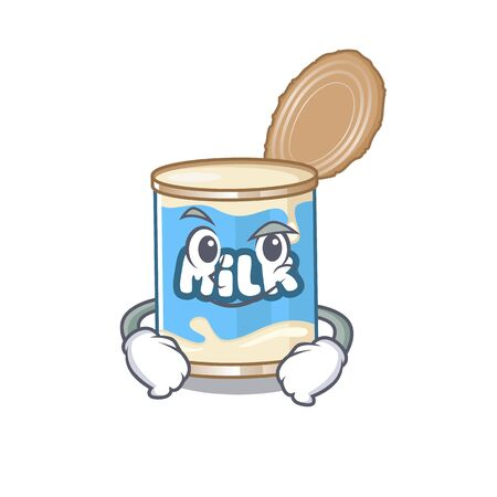 Cool condensed milk mascot character with Smirking face