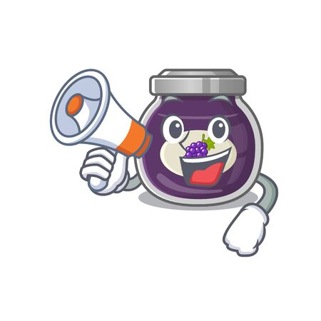 An icon of grape jam having a megaphone