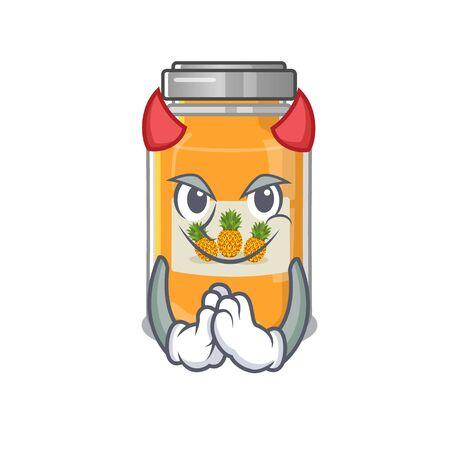 Devil pineapple jam Cartoon in character design Ilustração