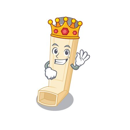 A stunning of asthma inhaler stylized of King on cartoon mascot style