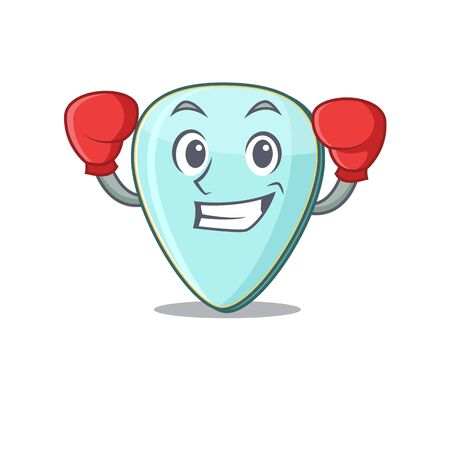 Sporty Boxing guitar plectrum mascot character style Иллюстрация