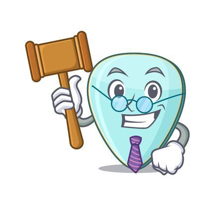 Smart Judge guitar plectrum in mascot cartoon character style Иллюстрация