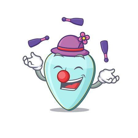 Smart guitar plectrum cartoon character design playing Juggling Иллюстрация
