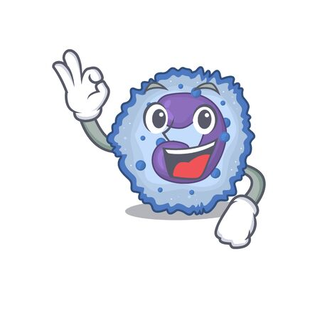 A picture of basophil cell making an Okay gesture. Vector illustration Illustration