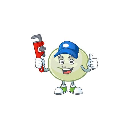 Cool Plumber green hoppang on mascot picture style