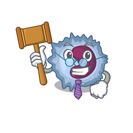 Smart Judge monocyte cell in mascot cartoon character style