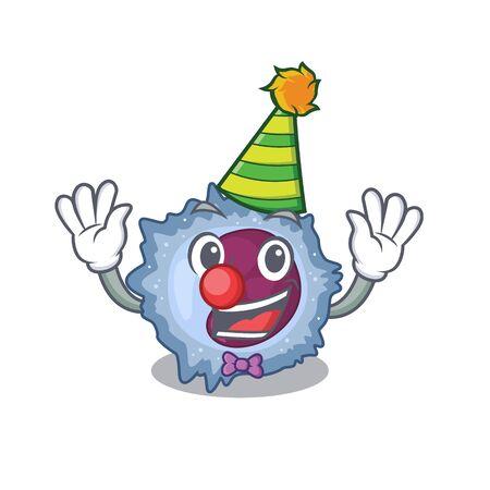 Funny Clown monocyte cell cartoon character mascot design