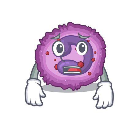 A picture of eosinophil cell showing afraid look face. Vector illustration