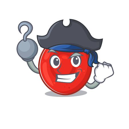 cool and funny erythrocyte cell cartoon style wearing hat. Vector illustration