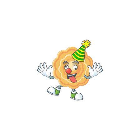 Funny Clown chinese mooncake cartoon character mascot design