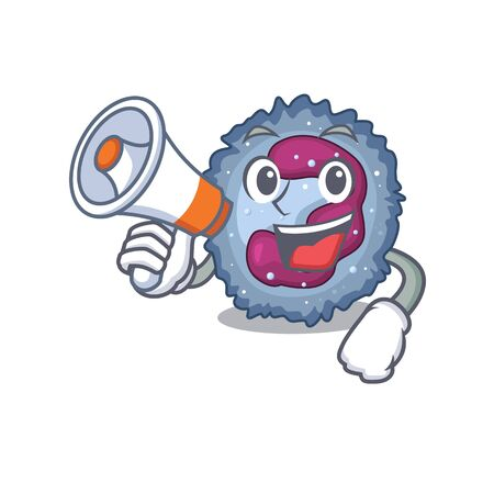 An icon of neutrophil cell having a megaphone
