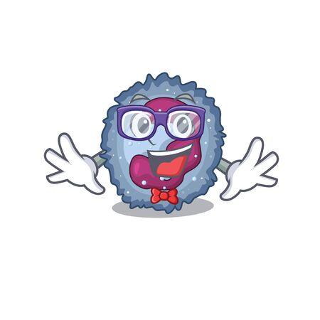 cartoon character of Geek neutrophil cell design