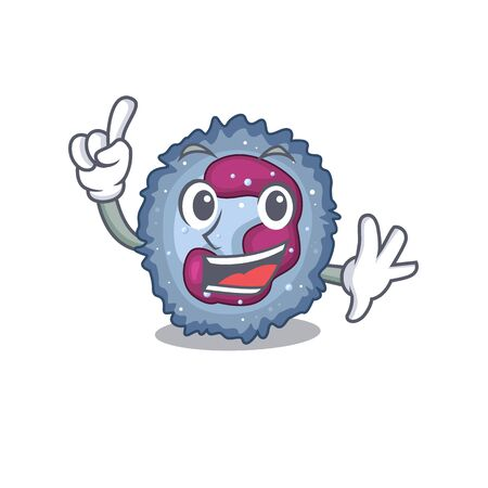 One Finger neutrophil cell in mascot cartoon character style Illustration
