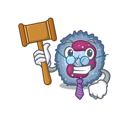 Smart Judge neutrophil cell in mascot cartoon character style