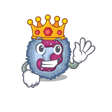 A stunning of neutrophil cell stylized of King on cartoon mascot style