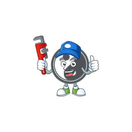 Cool Plumber yin yang on mascot picture style. Vector illustration Ilustrace