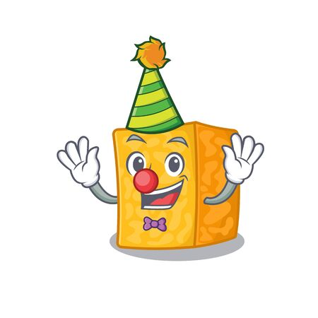 Funny Clown colby jack cheese cartoon character mascot design