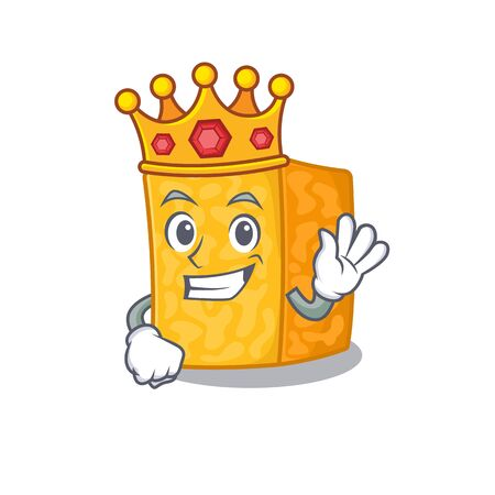 A stunning of colby jack cheese stylized of King on cartoon mascot style Ilustração