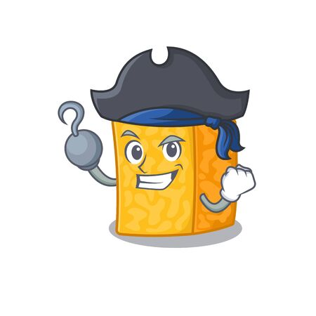 cool and funny colby jack cheese cartoon style wearing hat Archivio Fotografico - 138460078